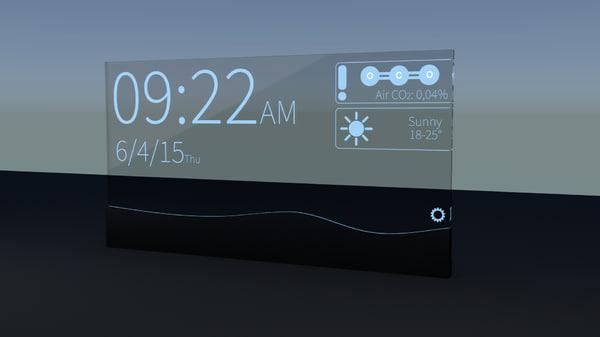 3d blend futuristic alarm clock