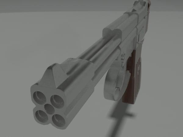 3d model pistola complex underwater