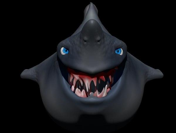 free obj model character shark