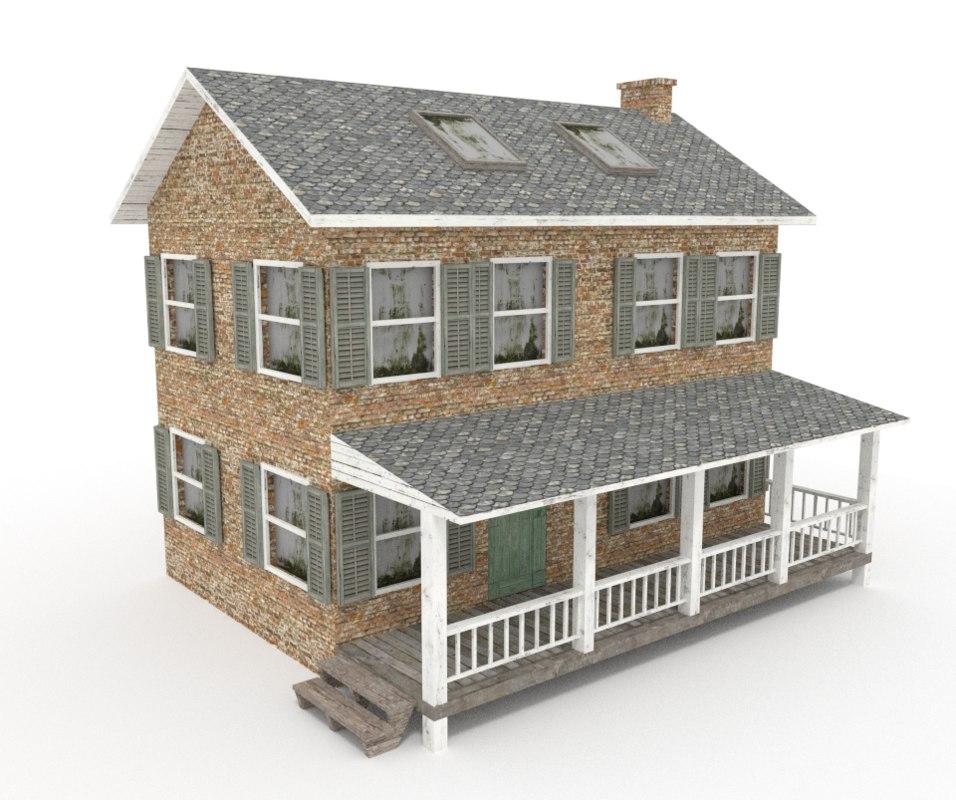 3ds old farmhouse