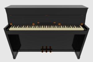blend upright piano keyboard