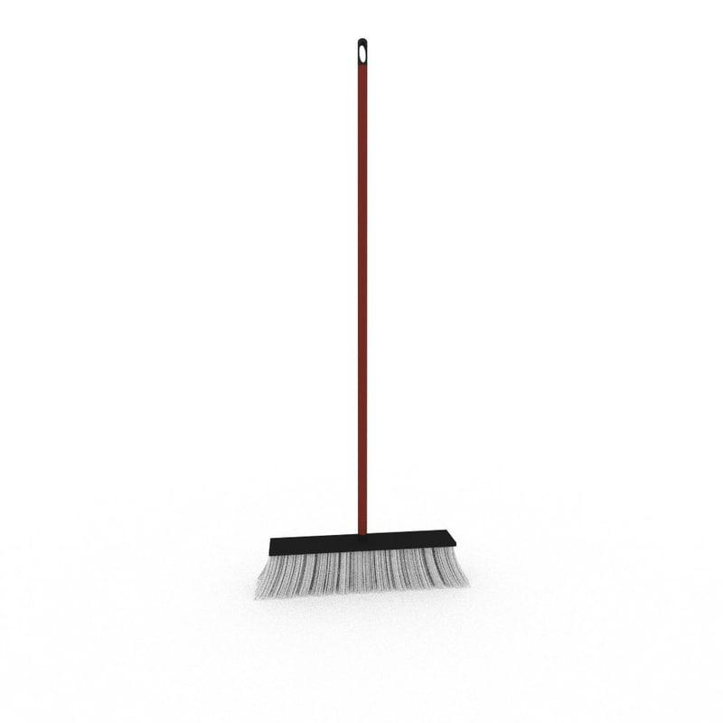 broom besom equipment 3d model