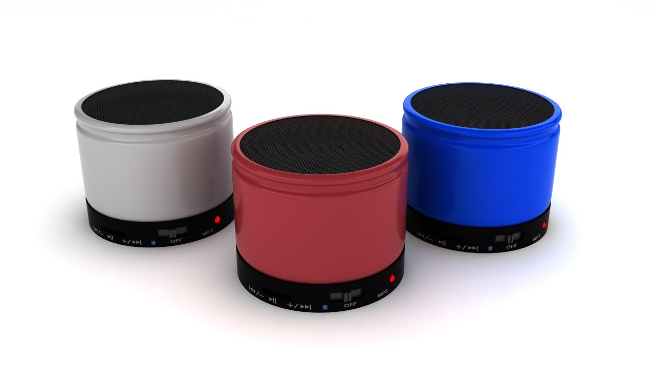 bluetooth speaker 3d 3ds