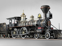 American Steam Locomotive Engine