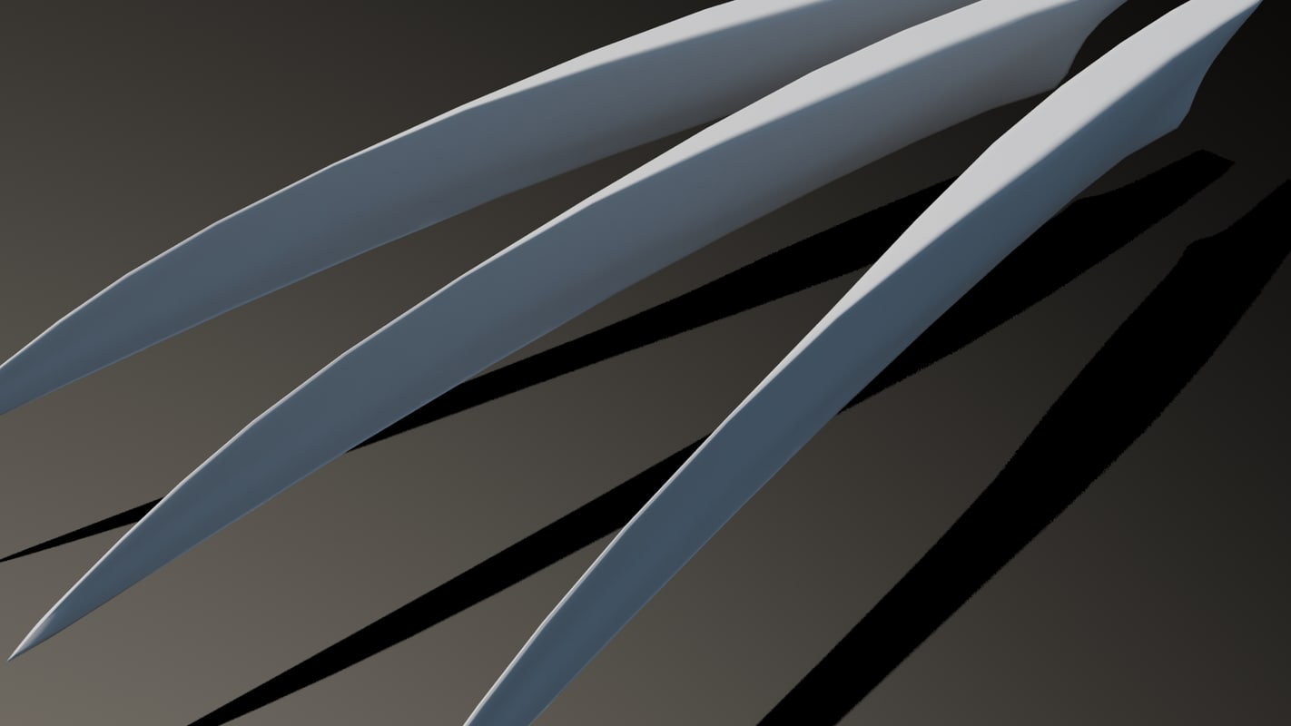 3d model wolverine claws