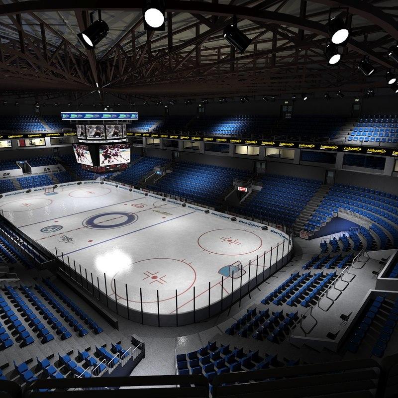 3d interior ice hockey