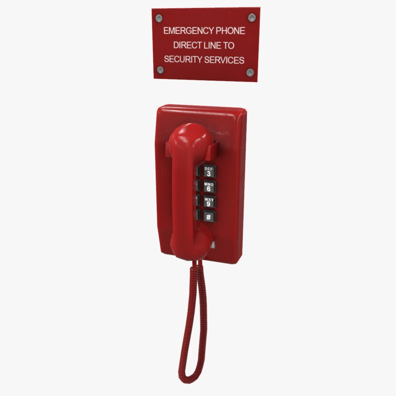3d emergency phone
