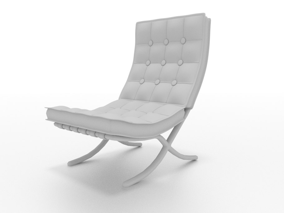 button chair modern 3ds free