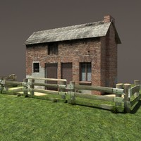 Derelict House Barn Low Poly #151