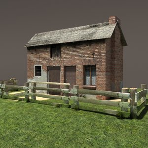 barn building exterior 3d model