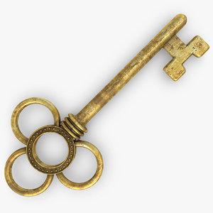 vintage key 2 old 3d max