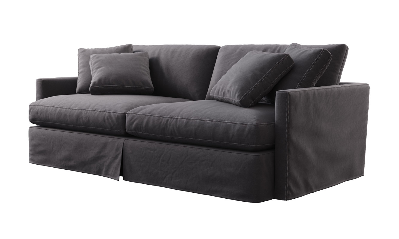 Crate & Barrel Lounge Slipcovered 93 Sofa