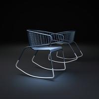 whale-chair 3d model