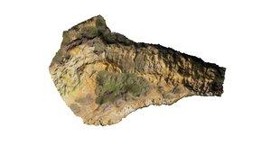 scan outcrop volcanic rocks 3d model