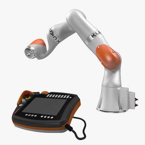3d kuka robot lbr iiwa