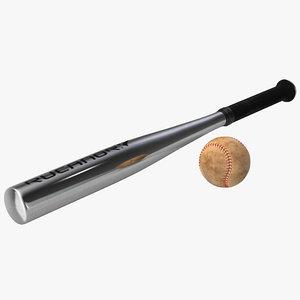 3ds baseball metal bat ball
