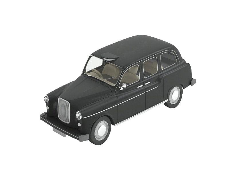3d classic london taxi cab model
