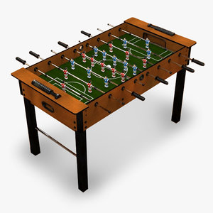 3d soccer table model