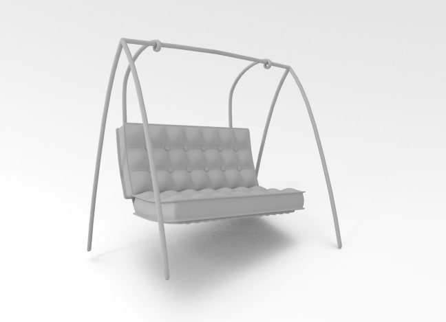 free 3ds model modern chair swing