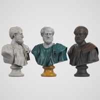 3d model bust aristoteles