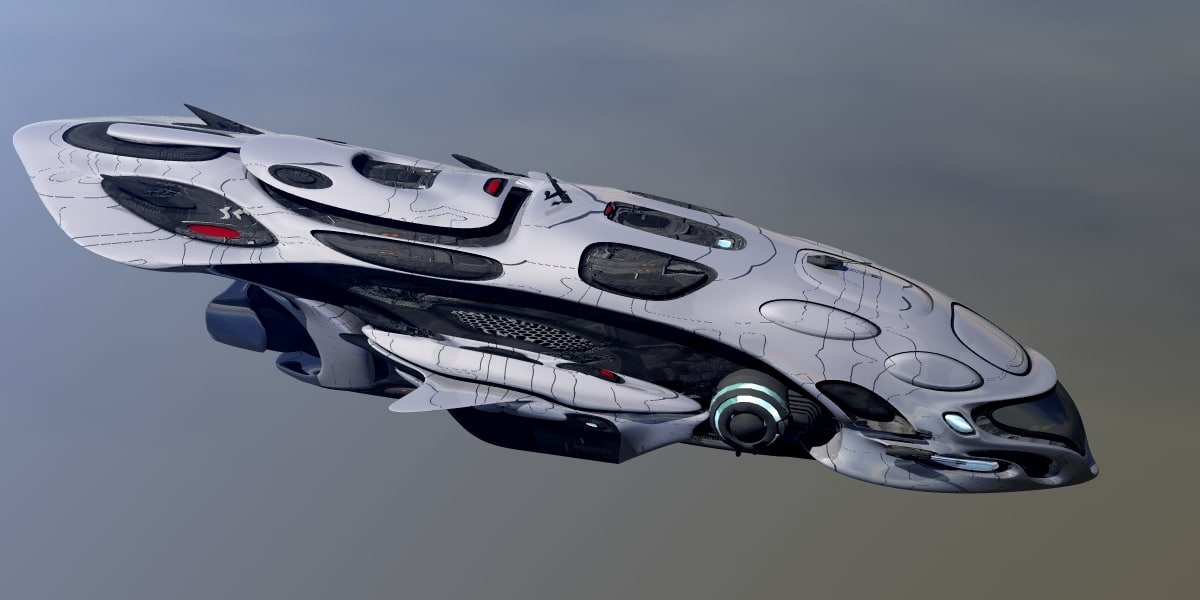 3d spaceship fantasy model