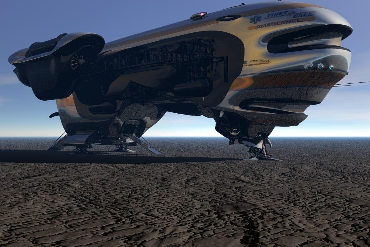 spaceship medical emergency 3d obj