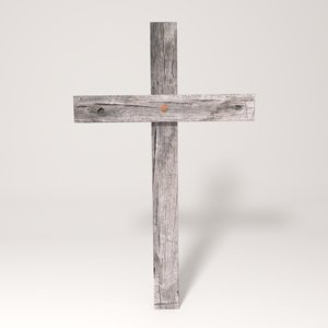 3ds wooden cross wood