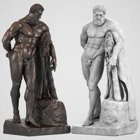3d model statue hercules farnese