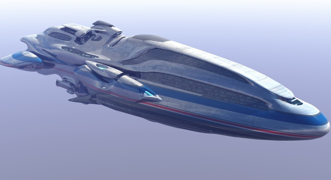 3d model of passenger sceneries space
