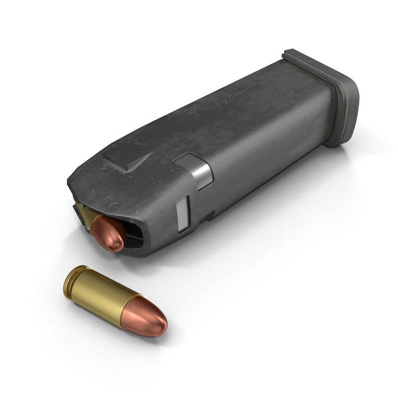 9mm ammo 3d max