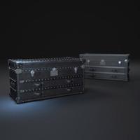 mayfair-steamer-trunk-low-chest 3d max