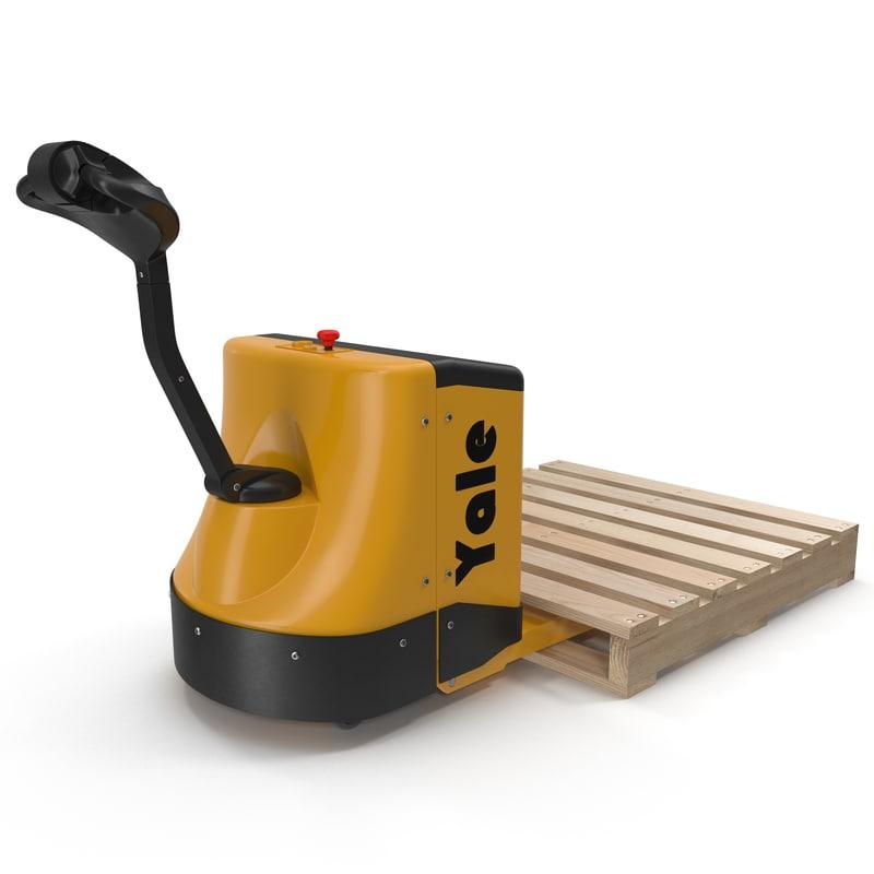 3d 3ds powered pallet jack wooden