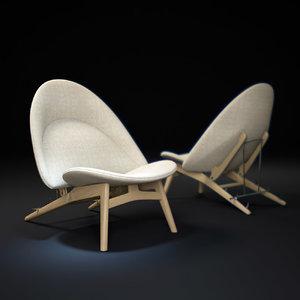 3d max pp530-tub-chair- 1954