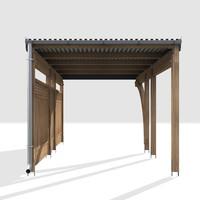 3d carport wood