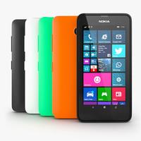 nokia lumia 630 3d model
