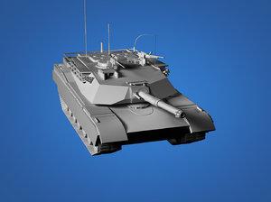 free abrams tank 3d model