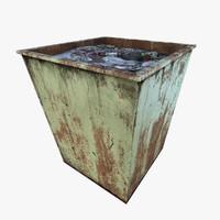 old dumpster 3d max
