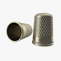 thimble modeled realistic 3d model