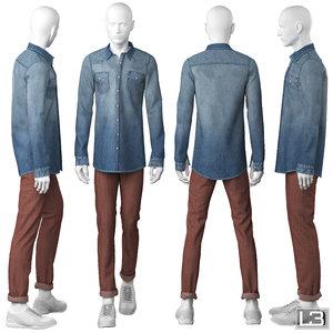 man mannequin 3d model