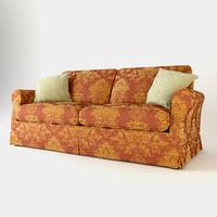 sofa busnelli silver 3d model