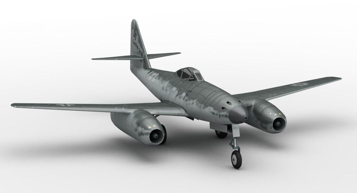 messerschmitt 262 3d model