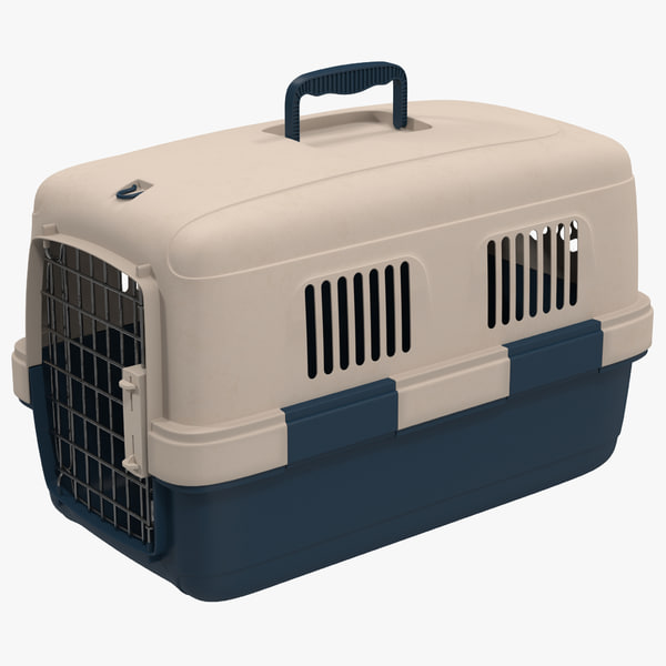 small pet carrier modeled 3d model