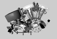 Detailed Motorbike Engine