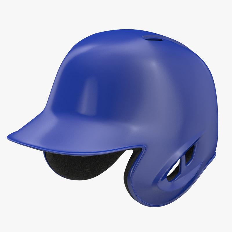 baseball helmet blue sided 3d max