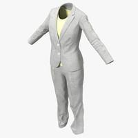 Women Workwear Suit 2 3D Model