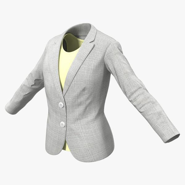 3d model women suit