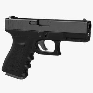 3d compact pistol generic model