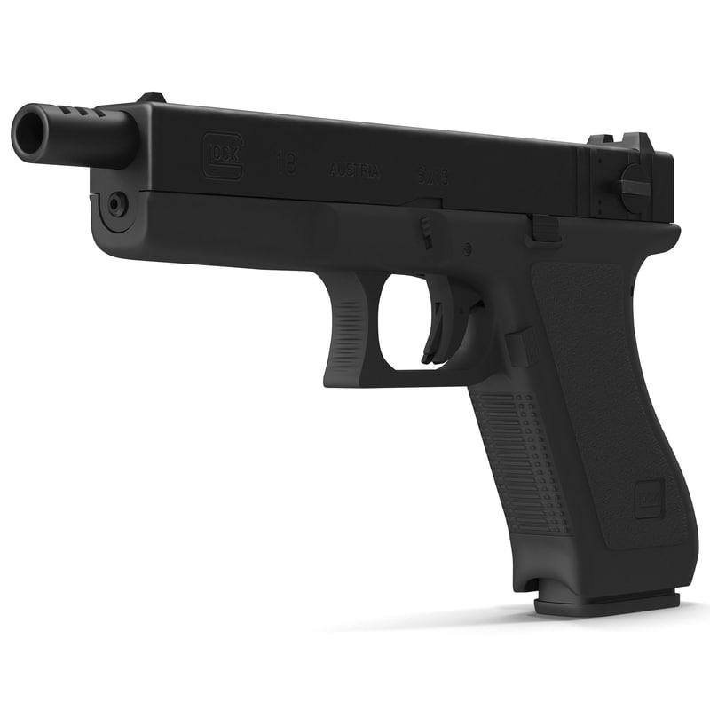 Automatic Pistol Glock 18 3D Model