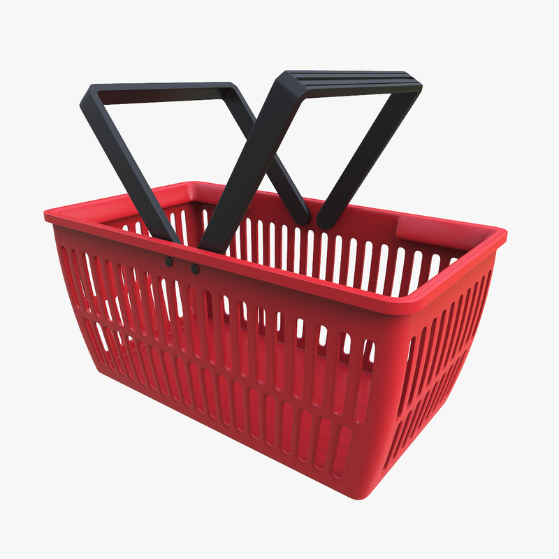 3d shopping basket