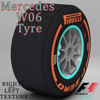 pirelli tyre w06 3d 3ds